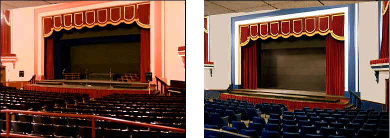 Pre and post painting comparison. Also includes new seating.  © 2012 Celeste Moore